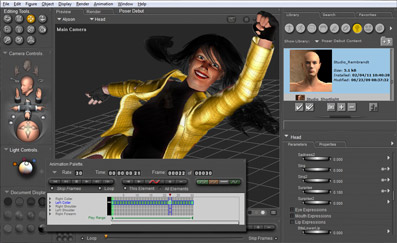 Poser Debut's User Interface gives you all the tools you need to get started.