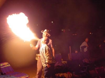 Joe Grover Breathing Fire