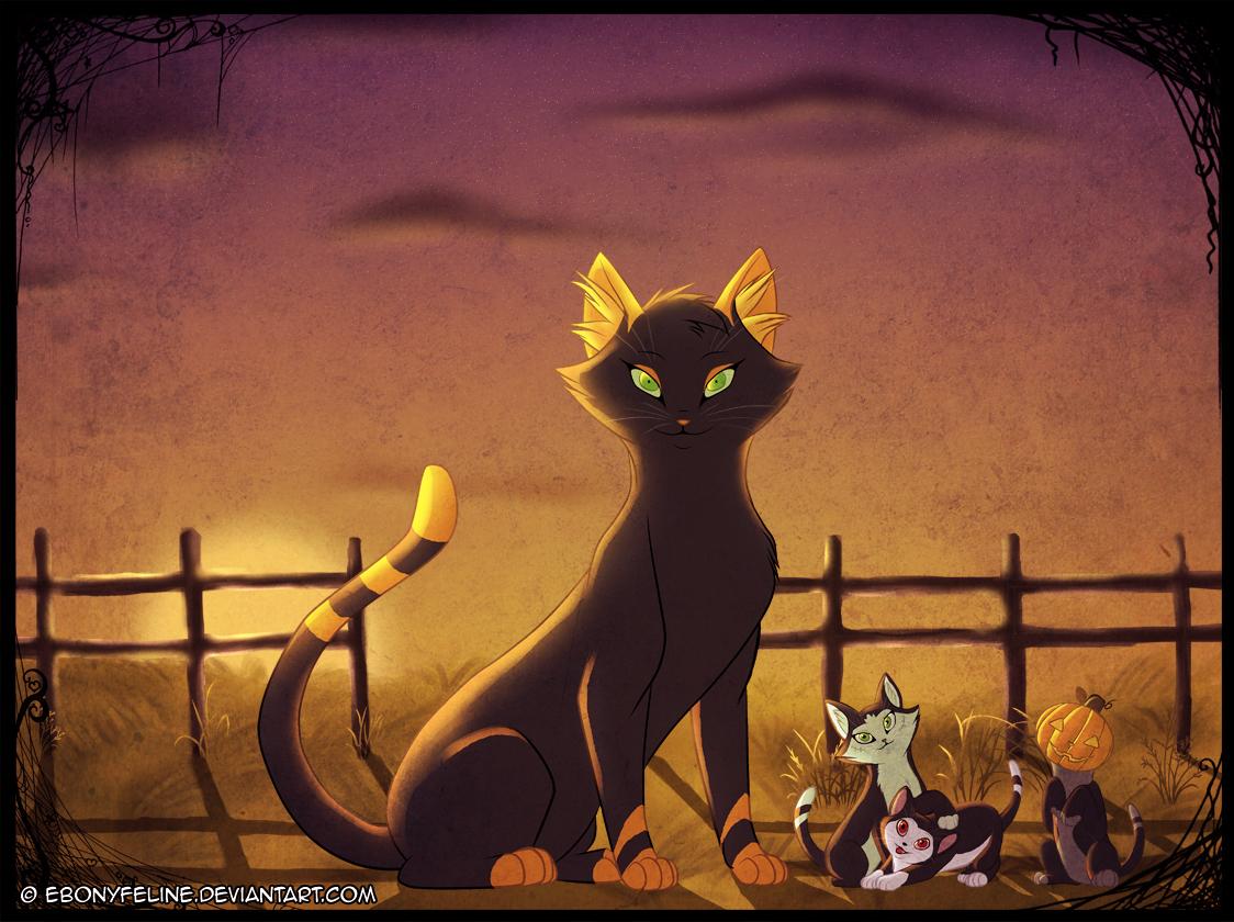 Halloween Cat Portrait