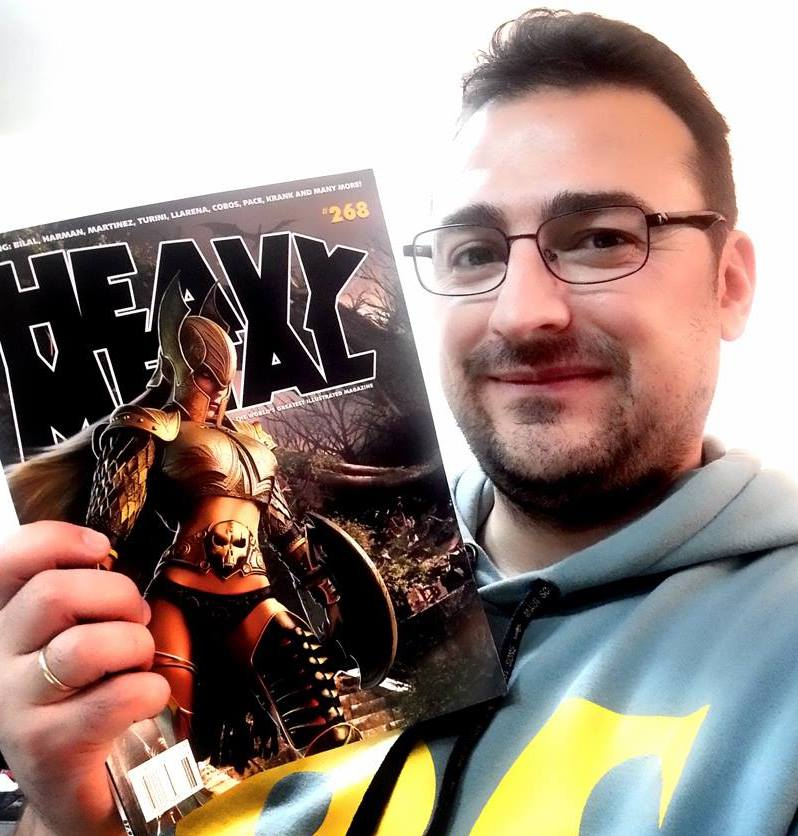 Isikol gets the cover shot of Heavy Metal #268