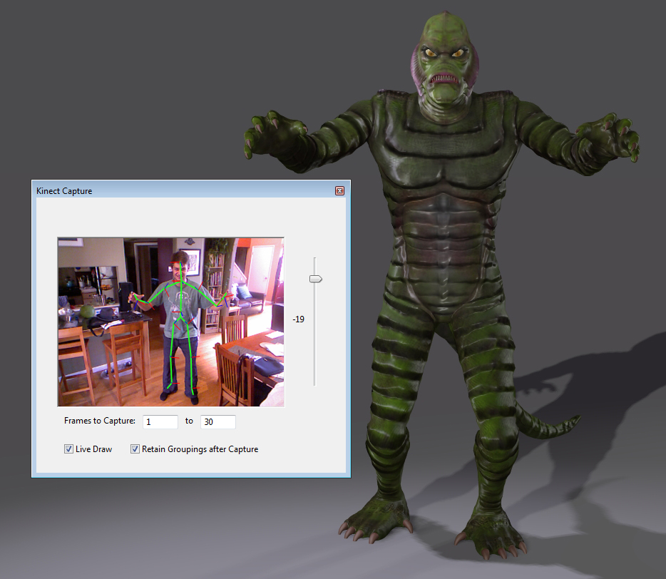 Use your Kinect hardware to capture motion data.