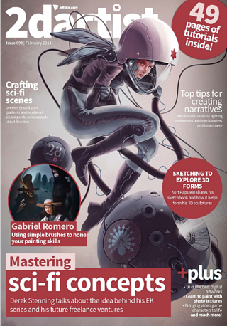 cover of 2D Artist Magazine