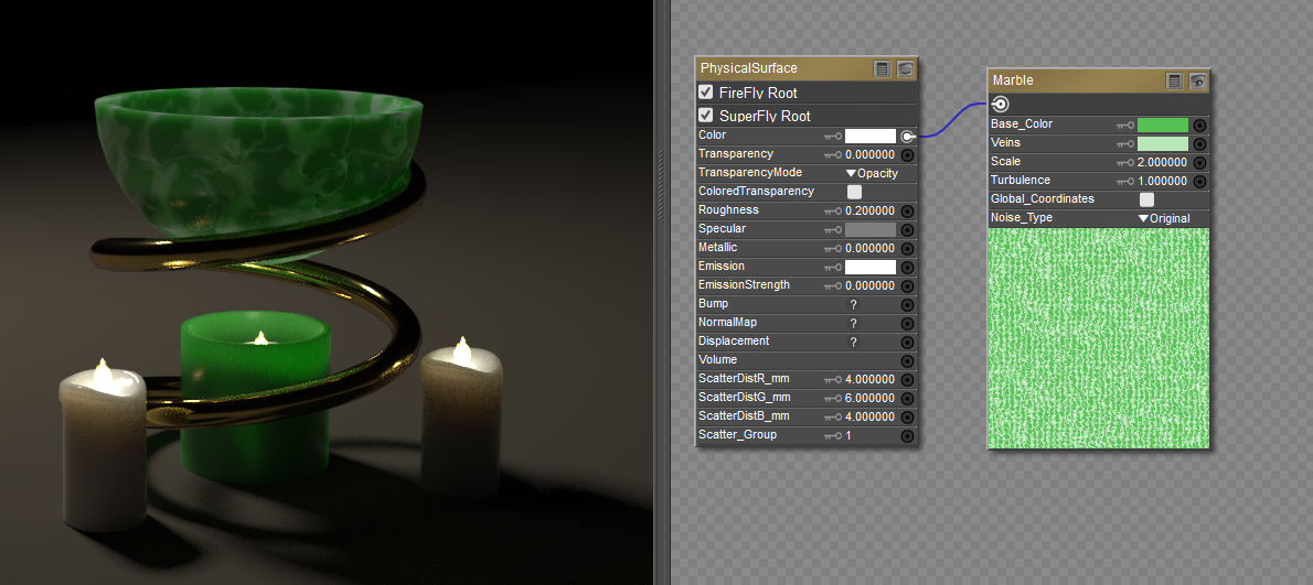 Creating materials in Poser Pro using the Physical Root Node
