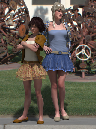 pauline & teen render in new summer dresses