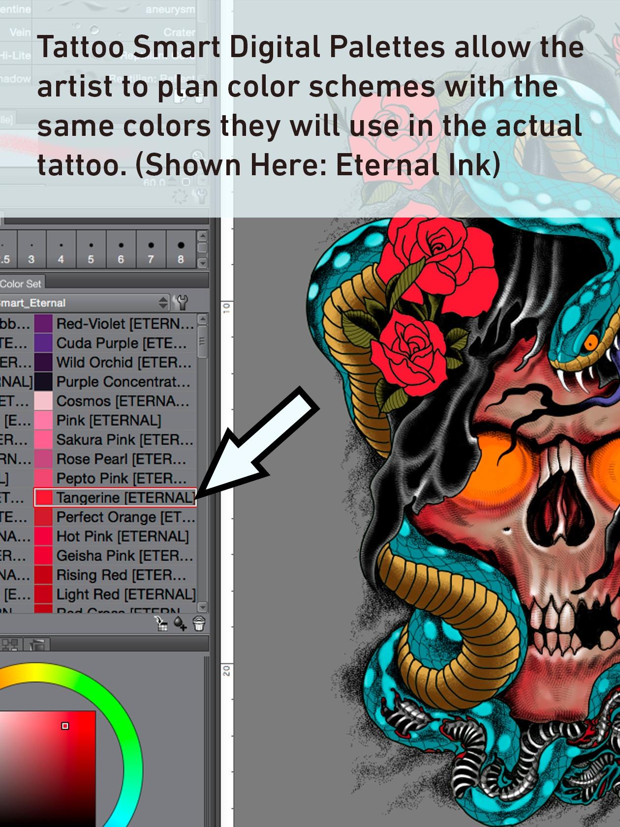Tattoo Smart Digital Palettes