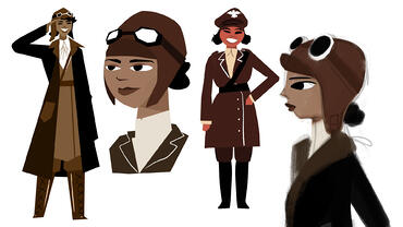 More Bessie Coleman Concept art