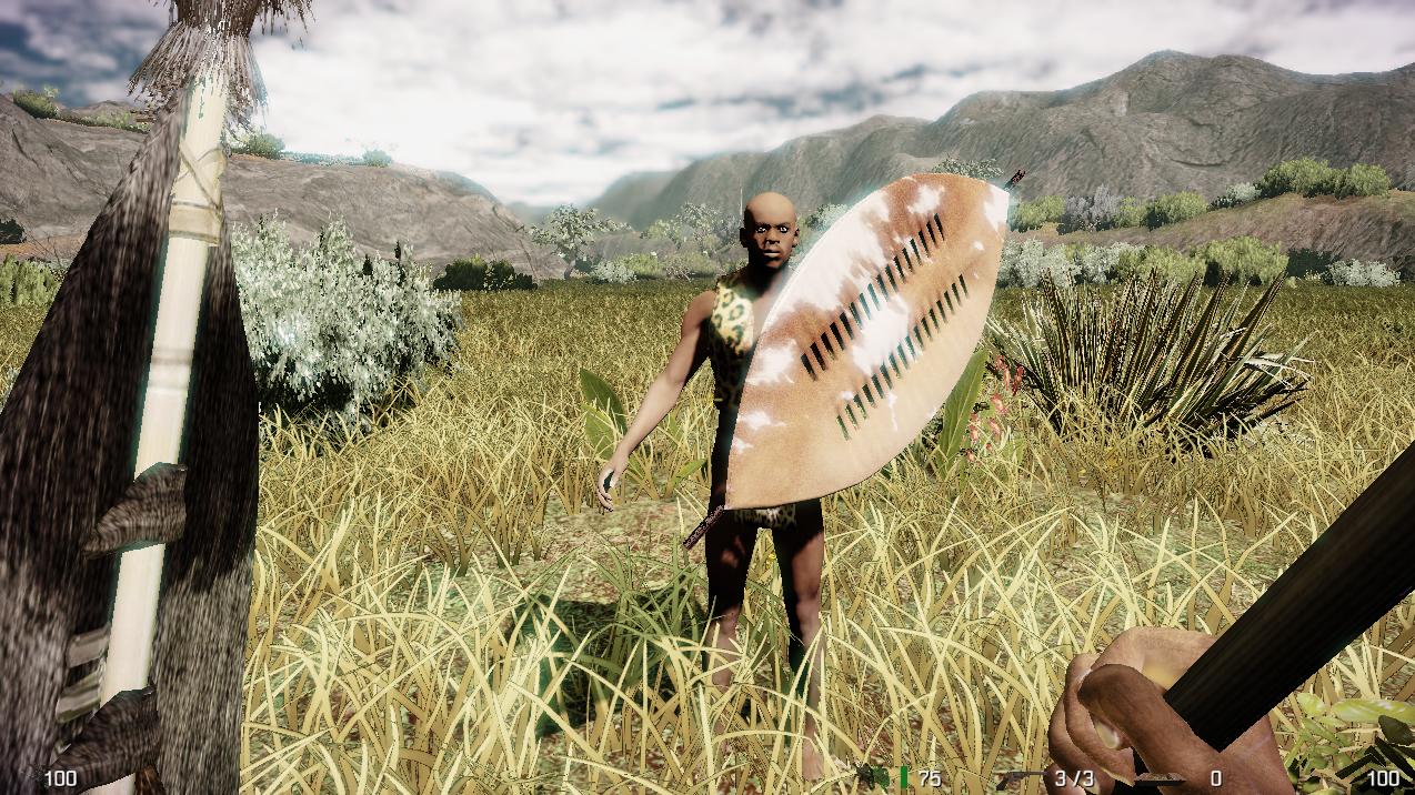 Shaka Zulu w/shield