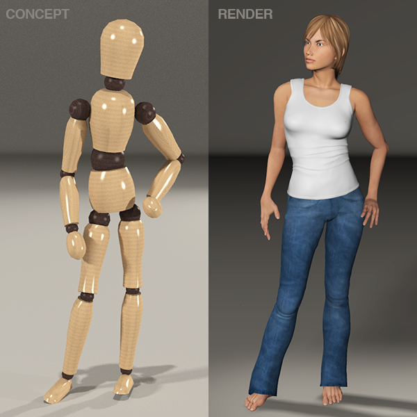 From concept to full render in Poser 11