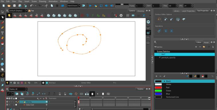 Toonboom Vector Drawing screenshot