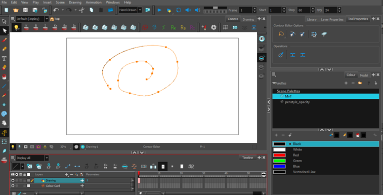 Toonboom Vector Drawing screenshot