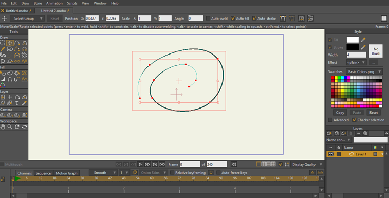 Moho vector drawing screenshot