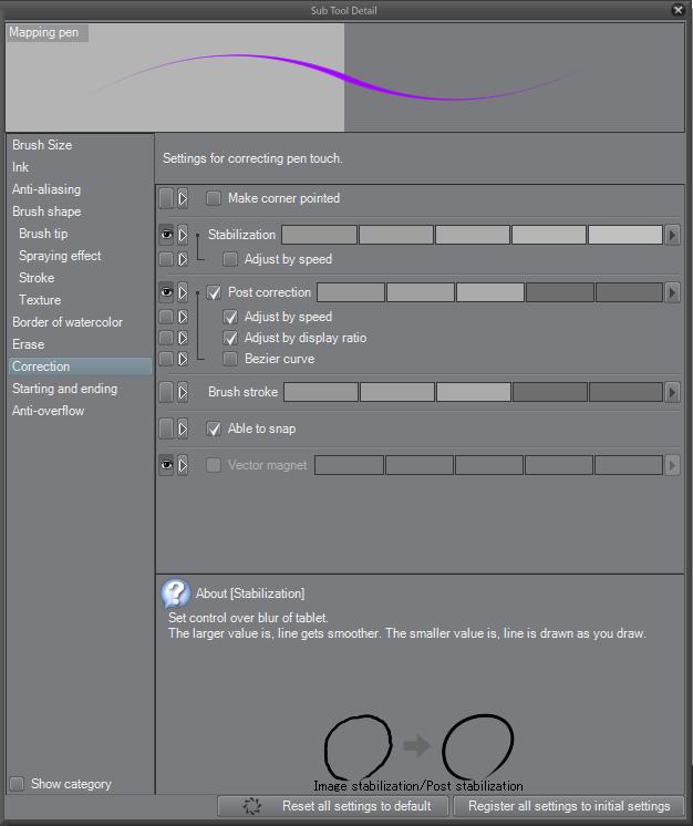 digital illustration-sub tool in CSP